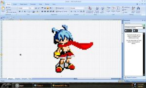 Laharl in MS Excel by CrowKuroa
