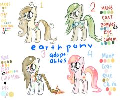 Earth Pony Adoptable Number 1 CLOSED by GeekPony