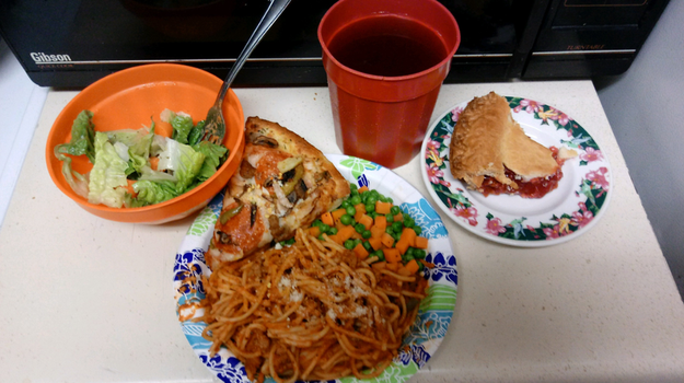 Pizza and Spaghetti Dinner by WillM3luvTrains
