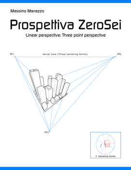 Three point perspective and circles by Massimo-Marrazzo
