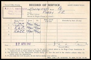 Record Of Service by parry
