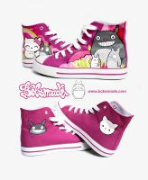 Totoro Shoes by Bobsmade