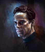 Julian Bashir by GrayscaleArt