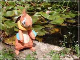 Buizel Papercraft - Swim by Lyrin-83