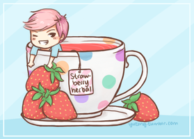 infinitea: strawberry herbal dongwoo by Yutong