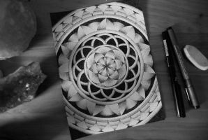 Seed Of Life Dotwork Mandala by christinapereira