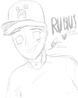 Rubius (lineart) by Ilovecupcakesomuch