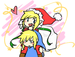 A Red and Blue Chirstmas! by MemoriiMakiko
