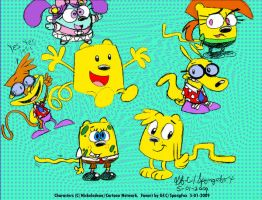 Wubbzy-Cast Cross over by spongefox