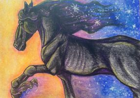 ACEO: Night Galloped by DanielleMWilliams