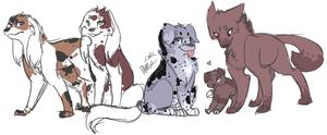 oc to dog lineup 1.: by xBadgerclaw