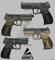 Model 9 Pistol series by sharp-n-pointy