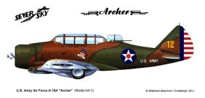 Seversky AA-1 Archer by Bispro