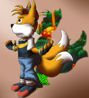 ash into tails by TheDarkShadow1990