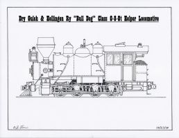 """Bull Dog"" class 0-8-0t by gunslinger87"