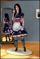 Sims 3 Alice Oriental Dress by jagged66