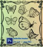 Butterflies Brushes by roula33