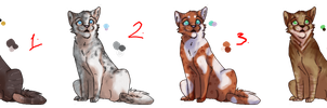ADOPTABLES - one left by Lionstrikewhiskers
