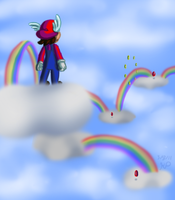 Wing Mario Over the Rainbow by Nintendo-Nut1