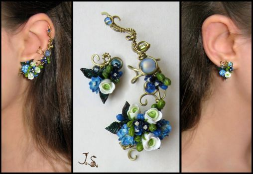 Ear cuff and stud by JuliaKotreJewelry
