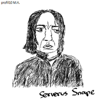 First try draw: Serverus Snape by profil10