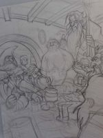 THE HOBBIT by Denis Medri - Dwarfs wip by DenisM79