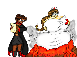 She Bloated me with SCIENCE! Colored by ZeroConfidence