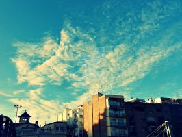 Sky in Hospitalet by Apoloelmaschulo