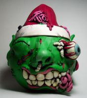 Zombie Christmas Elf Vase by MandarinMoon