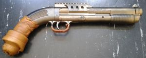 Steampunked airsoft gun (repaired). by gmagdic