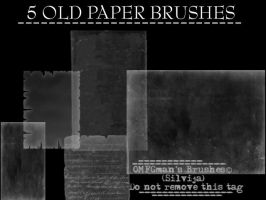 Old Paper brushes by OMFGman