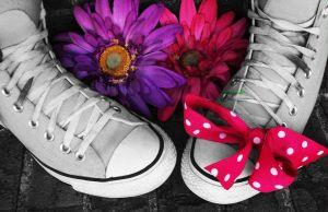 flower shoes by flower222