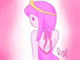 Princess Bubblegum coloured by Pink-ChanX