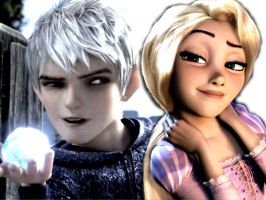 Jack Frost and Rapunzel by nala123456789