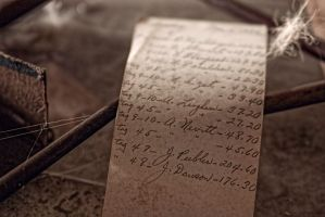 Abandoned Silk Mill, Names on Paper by cjheery