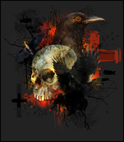 Skull and Crow by Maniakuk