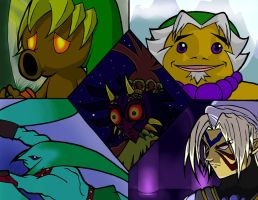 Majora's Mask - Masks by DieuKnight