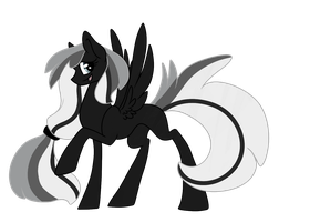 Gray-Scale: Pony Adoptable :Closed: by DaPuddingz