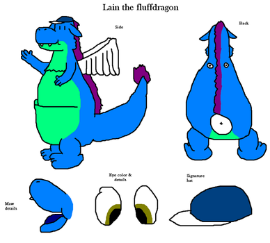 Lain the fluffdragon by lainthedragonite149