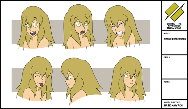 Citrine Expressions Series 1 by TheGraffitiSoul
