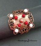 bracelet with agate and coral by nastya-iv83