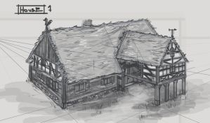 Long House Sketch by AbydosOnline