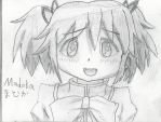 Madoka Kaname Pencil Drawing by SparkleLight3