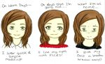 How much makeup changes you by missanimestranger
