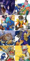 Sly Cooper Thieves In Time doodles by nmrbk