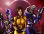 Mass Effect Squad by Atrociraptor
