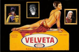 """Velveta"" Art Show Invite by BruceWhite"