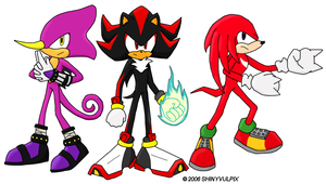 Shadow, Knuckles, and Espio by ShinyVulpix