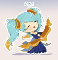 Chibi Sona - League of Legends by GisAlmeida