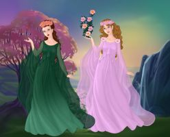 Demeter and Persephone by LadyIlona1984